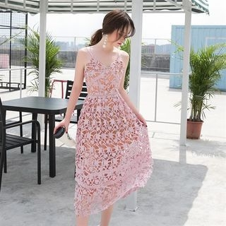 Spaghetti Strap Lace Dress 1060675827