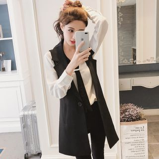 Image of Buttoned Oversized Vest