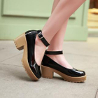 Ankle Strap Platform Pumps 1596