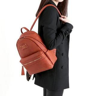 Faux-Leather Backpack Mini