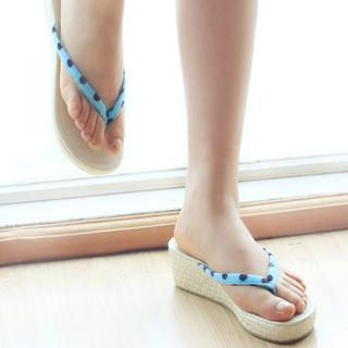 Picture of KAWO Bow Dotted Platform Flip-Flops 1022910184 (Other Shoes, KAWO Shoes, China Shoes, Womens Shoes, Other Womens Shoes)