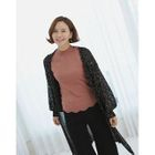 Sequined Open-Front Cardigan 1596