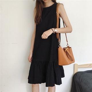 Plain Sleeveless Midi Dress 1061553247