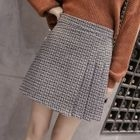 Check Pleated A-Line Skirt 1596