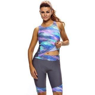 Set: Printed Tankini Top + Swim Shorts 1060656977