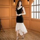 Color Panel Sleeveless Maxi Dress 1596