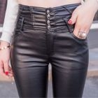 Faux-Leather Skinny Pants 1596