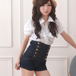 MeezMaker High waist shorts with buttons. - Meez Forums