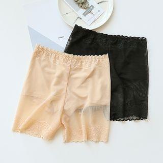 Lace-Panel Boy Shorts 1061560963