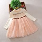 Kids Lace Long-Sleeve Dress 1596