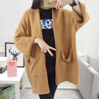 Open Front Pocketed Long Cardigan 1053105398