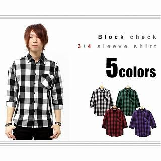 Buy Equator 3/4-Sleeve Check Shirt 1022968854