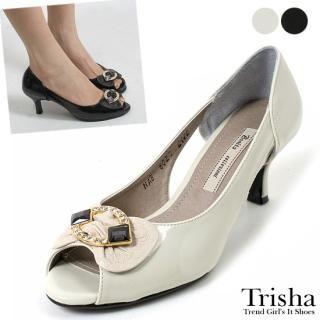 Buy Trisha Bejeweled Open-Toe Patent Pumps 1022464634