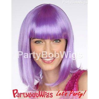 Deluxe | Purple | Medium | Party | Size | Bob | Wig | One