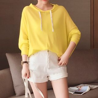 Hooded Pullover Yellow - One Size 1053126070