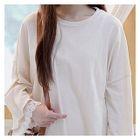 Drop-Shoulder Lace-Trim Top 1596