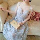 Sleeveless Crochet Layered Midi Dress 1596