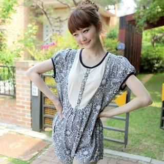 Buy CLICK Dolman Sleeve Printed Long Top 1022901108