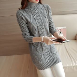 Ribbed Long-Sleeve Knit Sweater 1062530581