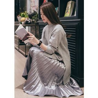 Dip-Back Wool Blend Long Knit Top 1056072567