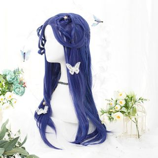 Sapphire | Straight | Full | Long | Blue | Size | Wig | One