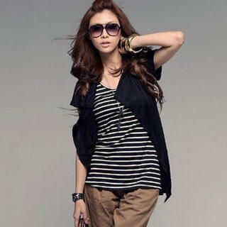 Buy PUFFY Inset Vest Striped Top 1022890208
