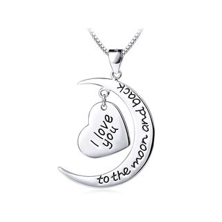 Fashion 925 Sterling Silver Heart-shaped Pendant and Necklace 1063760675