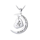 Fashion 925 Sterling Silver Heart-shaped Pendant and Necklace 1596