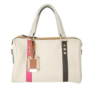Buy AKA Faux-Leather Detail Woven Tote Bag 1022542688
