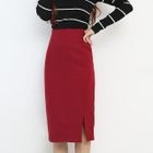 Slit Pencil Skirt 1596