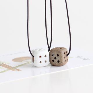 Dice Pendant Necklace