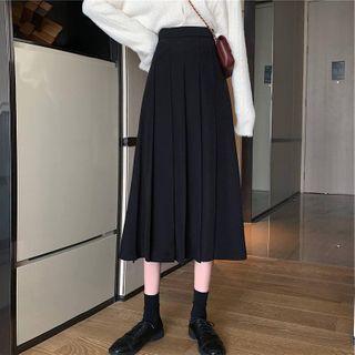 Midi Accordion Pleat Skirt