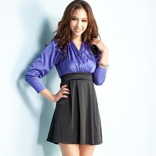 Buy Joanne Kitten Mock Two-Piece Wrap Dress 1022543460