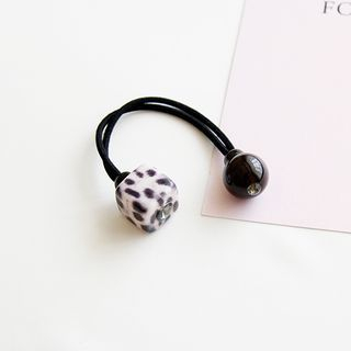 Image of Leopard Print Cubic Hair Tie