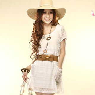Buy Tokyo Fashion Short-Sleeve Lace Dress 1022859538