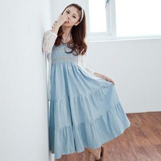 Picture of LULUS Strapless Denim Maxi Dress 1023056316 (LULUS Dresses, Womens Dresses, Taiwan Dresses)