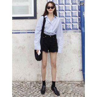 Frey-Hem Cotton Shorts 1061625173