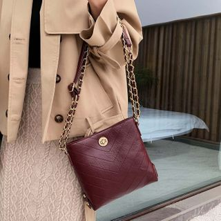 Image of Chain Strap Square Crossbody Bag
