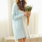 Open Knit Long Cardigan 1596