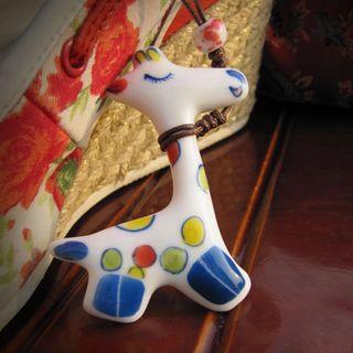 Image of Ceramic Animal Pendant Necklace
