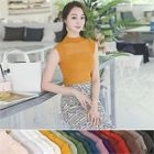 Colored Sleeveless Knit Top 1596