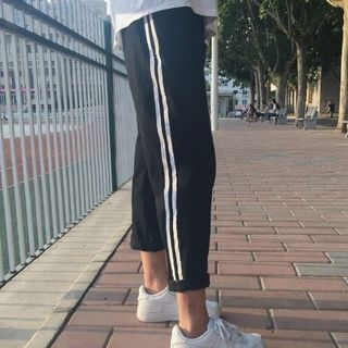 Contrast Trim Sweatpants 1053743849