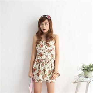 Buy MISIY Floral Print Drawstring Sundress 1022545681