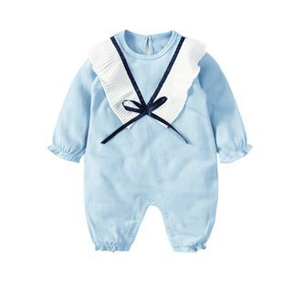 Kids Pleated Trim Bodysuit