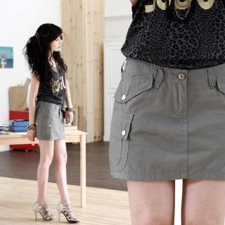 Buy SDKING Cotton Mini Skirt 1022577203