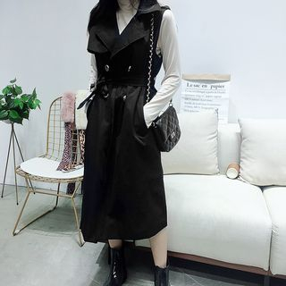 Image of Double Breasted Trench Vest