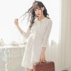 Lace Bell-Sleeve Dress 1596