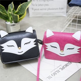 Fox Applique Crossbody Bag