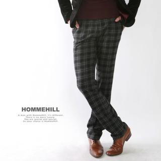 Buy HOMMEHILL Wool-Blended Plaid Pants 1021702051