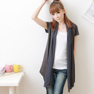 Buy F-DNA Chiffon Shawl-Collar Cardigan 1022878563